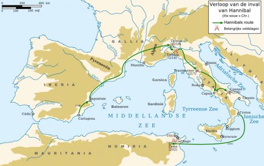 vaarroutes Middellandse-Zee